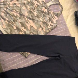 Fabletics Camo tank & Capri leggings